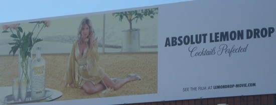 Absolut Lemondrop billboard
