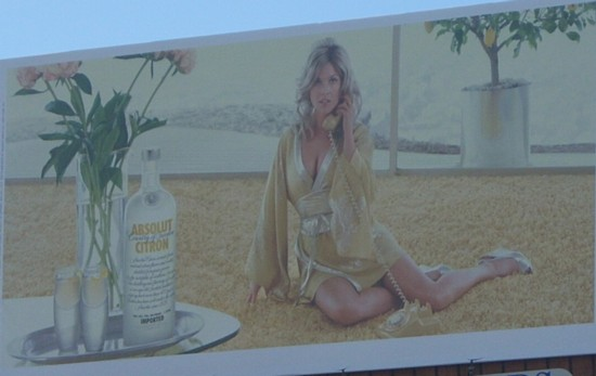 Absolut Lemondrop billboard close-up