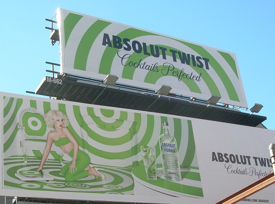 Complete Absolut Twist billboard