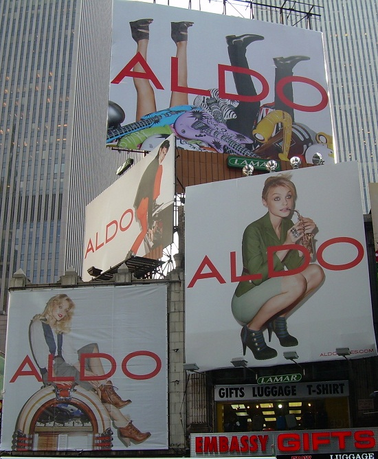 Aldo Times Square billboards