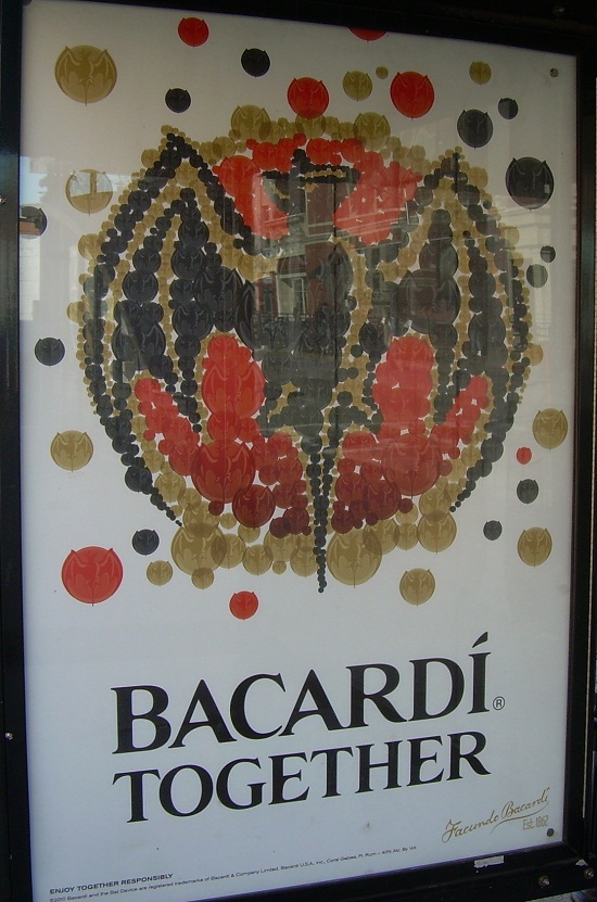 Bacardi bat logo billboard