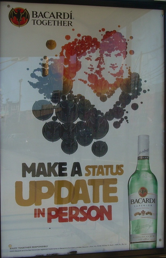Bacardi Make a Status Update in Person billboard