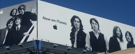 NYC Apple Store iTunes Beatles billboards