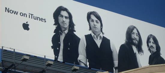 NYC Apple Store iTunes Beatles billboard