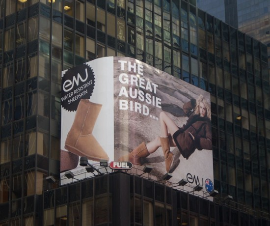 Aussie Bird Times Square billboard