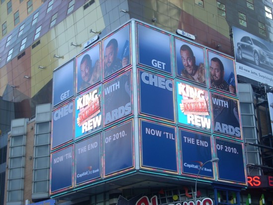 Capital One billboard 42nd and 8th in New York City