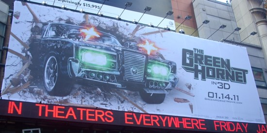 Green Hornet 42nd Street billboard
