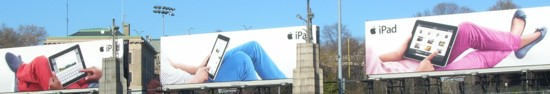Apple iPad Lincoln Tunnel billboards