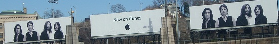 Lincoln Tunnel Apple iTunes Beatles billboards