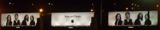iTunes Lincoln Tunnel Beatles billboards at night