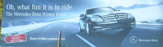 Mercedes-Benz Winter Event Lincoln Tunnel billboard
