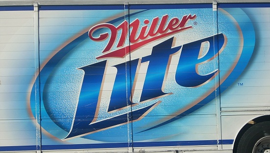Miller Lite truck graphic featuring subliminal breast image