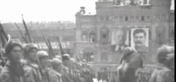 Soviet military parade, Red Square, 1941