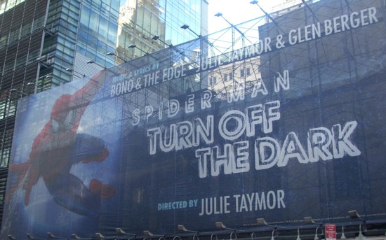 Spider-Man Turn Off The Dark 42nd Street billboard