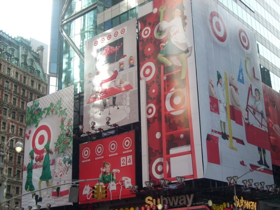 Target Times Square Christmas billboard