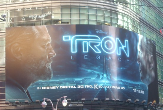 Tron Times Square billboard