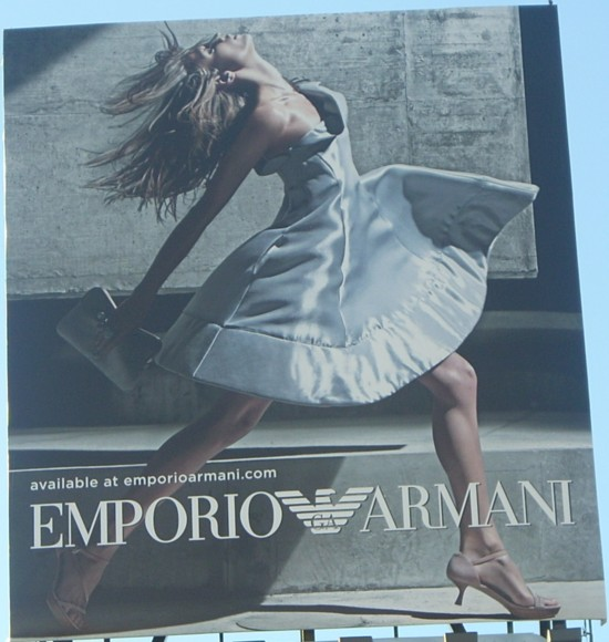 Emporio Armani NYC 14th Street billboard - 2011 Number 1