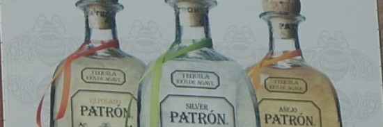 Patrón Tequila NYC 14th Street billboard bottles