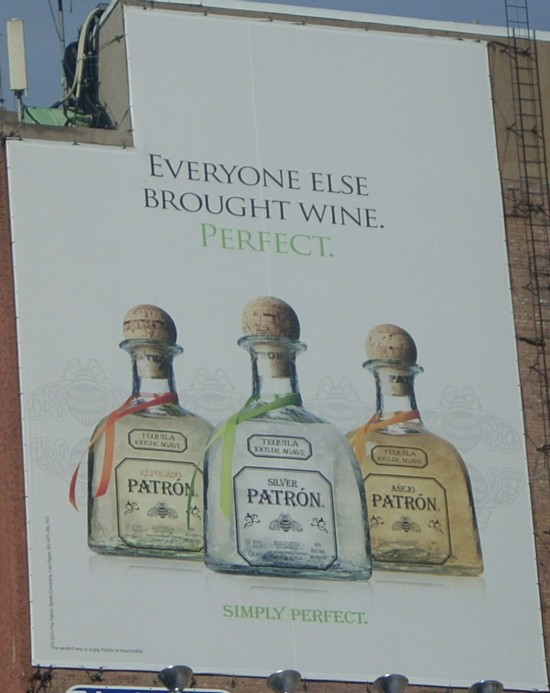 Patrón Tequila NYC 14th Street billboard
