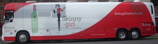 Skinny Girl Cocktails bus ad