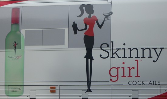 Skinny Girl Cocktails bus ad close up