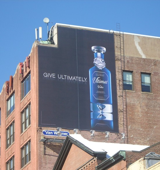 Ultimat vodka NYC 14th Street billboard