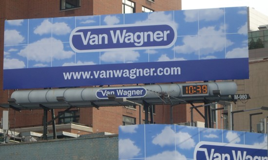 Van Wagner billboard for a billboard company - Canal Street NYC