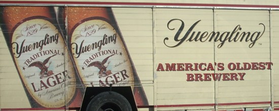 Yuengling Lager Beer delivery truck