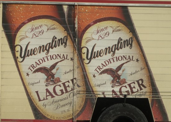 Yuengling Lager Beer delivery truck close-up