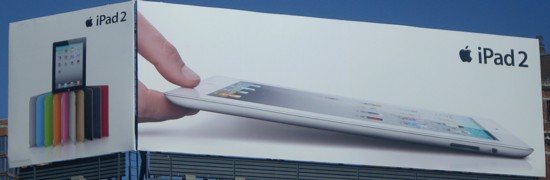 NYC Apple Store IPad 2 billboard