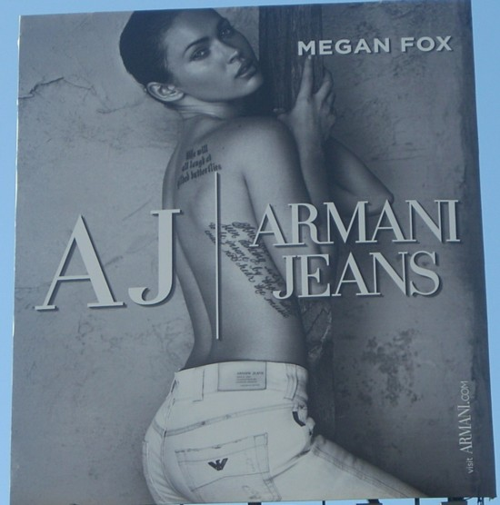 Armani Jeans Megan Fox billboard - 14th Street in NYC