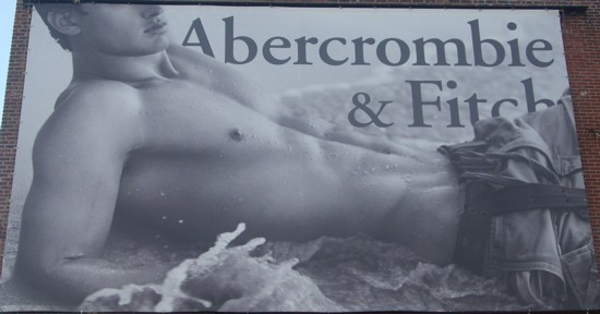 Abercrombie & Fitch Meat Packing District billboard