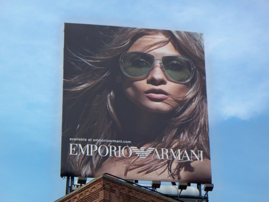 Armani billboard - 2011 Number 4 installed at 14th and 9th in NYC