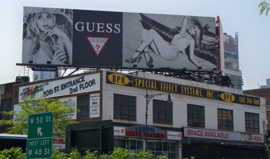 Guess Jeans billboard on building - NYC - 06-11