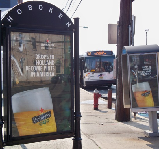 Heineken bus shelter and phone booth ads - 06-11