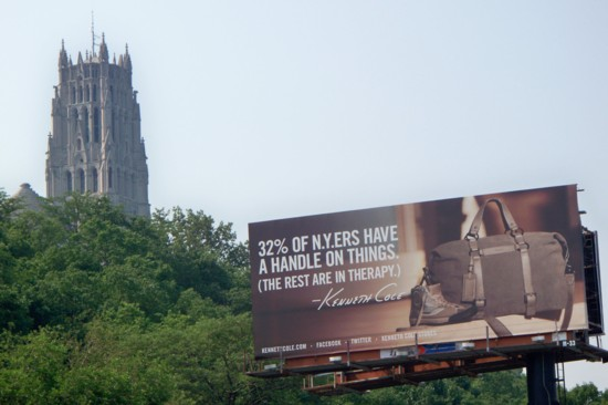 Kenneth Cole billboard with Riverside Church in the background 06-11