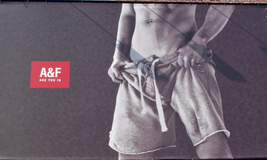 Abercrombie and Fitch Meat Packing District billboard - 2011 No. 2