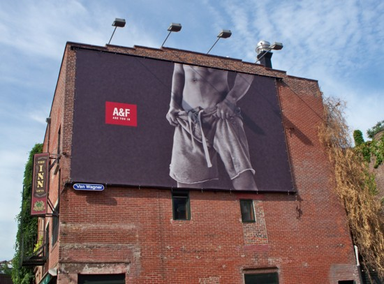 Abercrombie and Fitch Meat Packing District billboard - 2011 No. 2 - building