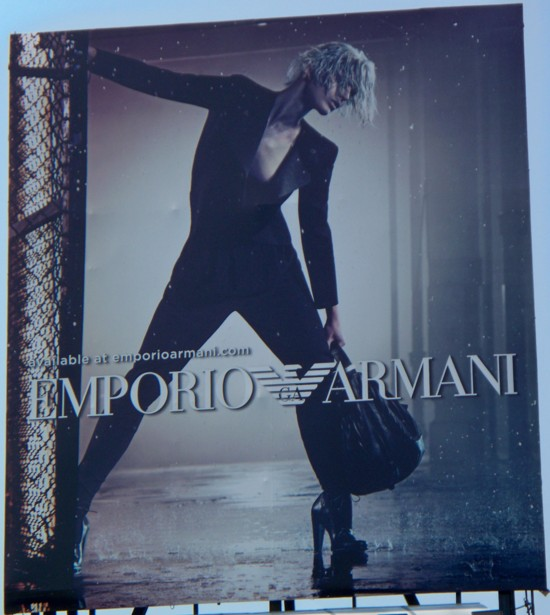 Armani billboard – 2011 Number 7