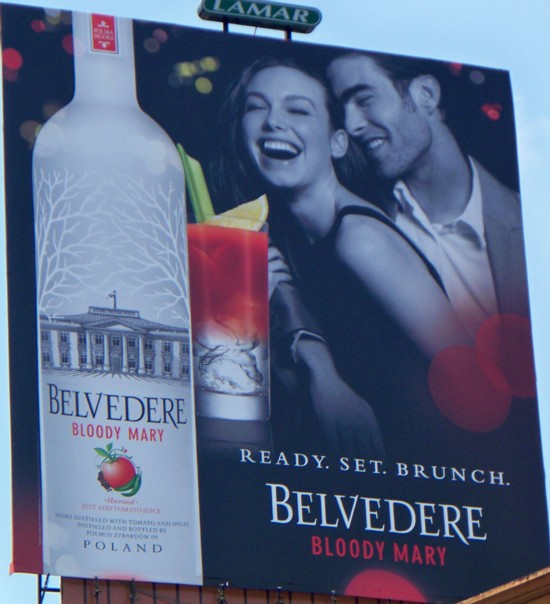 Belvedere Bloody Mary billboard seen from 14th Street in NYC - 07-11