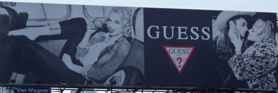 Guess Jeans billboard – NYC – 07-11 install