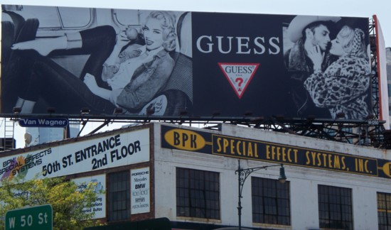 Guess Jeans billboard – NYC – 07-11 building