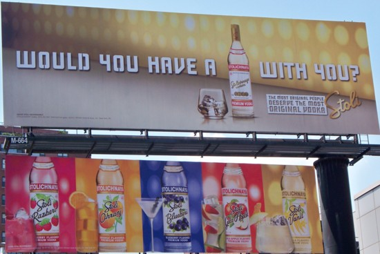 Stolichnaya two-story billboard - Hudson St. NYC 07-2011