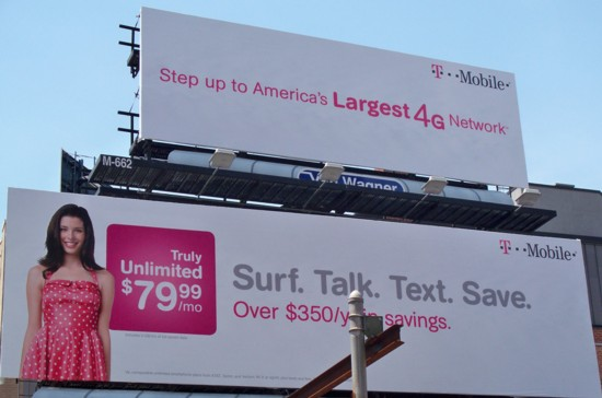 T-Mobile 2-story billboard - NYC 06-11