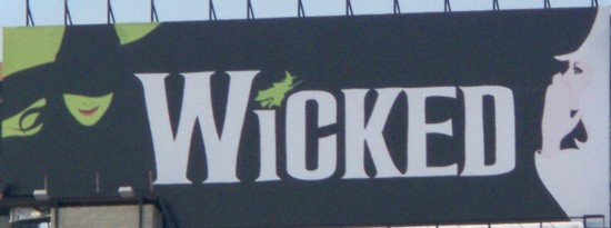 Wicked billboard installed in NYC - 06-11
