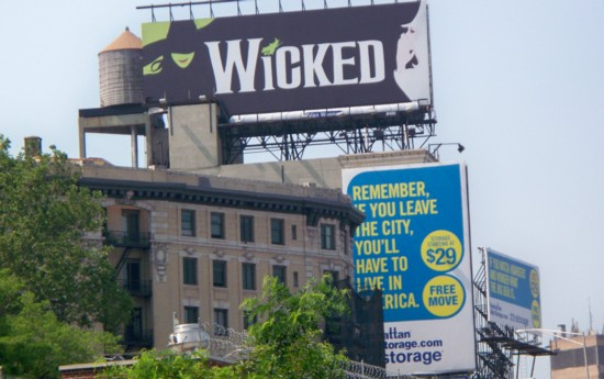 Wicked billboard installed on building in NYC - 06-11