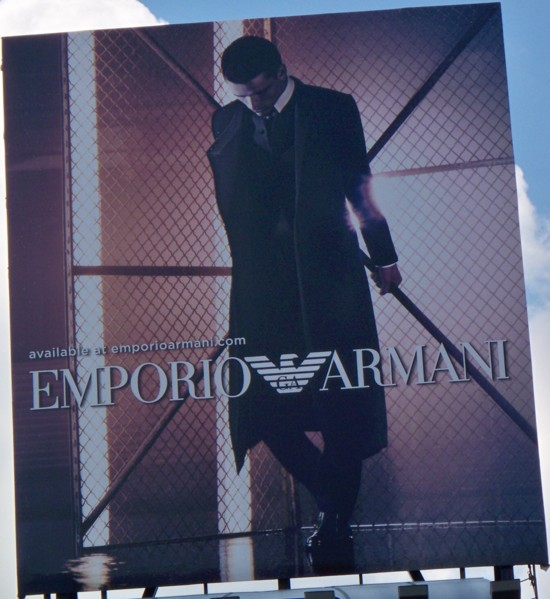 Armani billboard – 2011 Number 8
