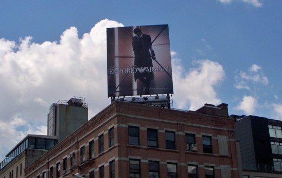 Armani billboard – 2011 Number 8 building