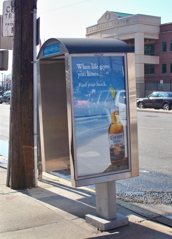 Corona Extra phone booth billboard