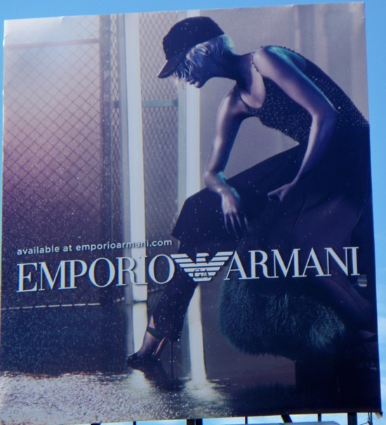 Armani billboard - 2011 Number 9